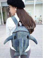 Hot Sale ! Free Shipping Fashion New Design Cute Shark Canvas Boy School Bag Girl Backpack Bag