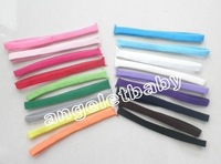 free shipping Baby 18color skinny headband satin elastic stretchy Hairbands soft nylon sewing hair bands 200pcs FD6511