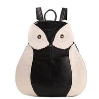 2014 New Fashion Preppy Style Women's Genuine Leather Backpack Original Design Owl Backpacks Woman Brand Vintage Backpack