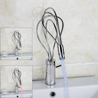 Best LED Bathroom Faucet Color Changing LED Bathroom Sink Faucet Single Handle Mixer Tap 8553D