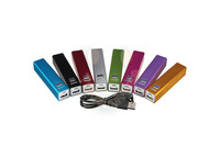 Portable power bank 2600mah metal external bank charger for iphone 6 Samsung + retail package 200sets/lot