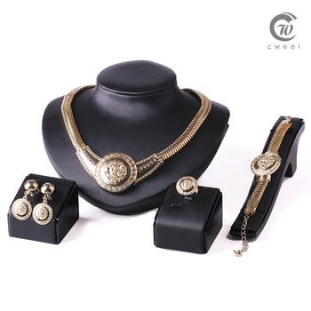 Аксессуары свадьба бусины комплект ювелирных изделий 18 К позолоченные кристалл старинные серьги браслет ожерелье кольцо мода Lionhead