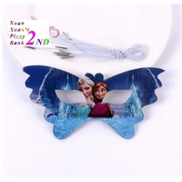 Free shipping,Child birthday party supplies,Cute cartoon Frazen Anna Elsa paper mask,butterfly glasses