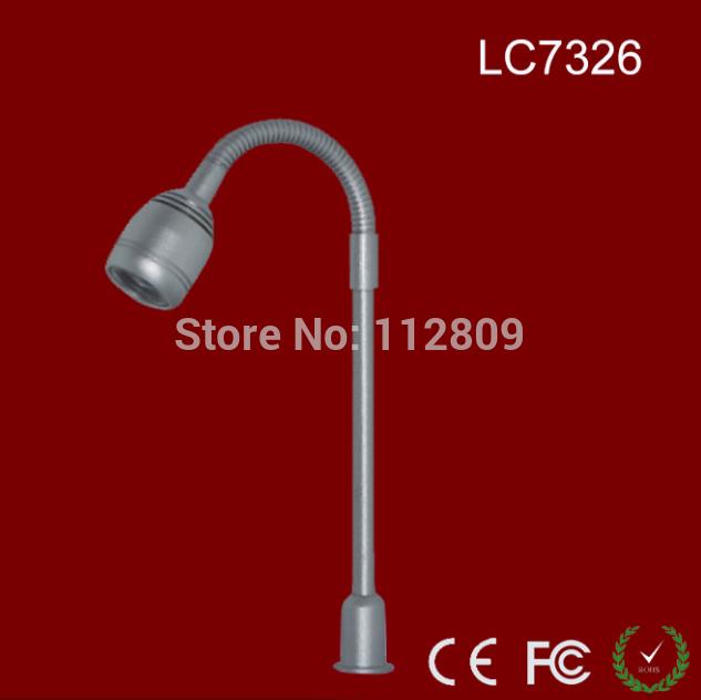 Professional 1W flexible metal tube LED Jewelry Lighting Adjustable To Any Angle CREE mini LED standing spotlight OEM height(China (Mainland))