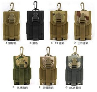 Molle Outdoor Bag Camping Equipment Bag for Phone Nylon Sport pouch Mobile Phone Bag tactical pouch FreeShip by DHL 100pcs/lot