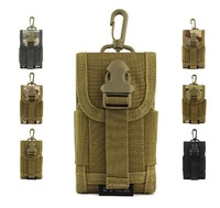 Molle Outdoor Bag Camping Equipment Bag for Phone Nylon Sport pouch Mobile Phone Bag tactical pouch FreeShip by DHL 50pcs/lot