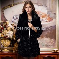 Brand newWomens Jacket Fox Fur Collar Outerwear Long Parka Long Sleeve Coat Overcoat