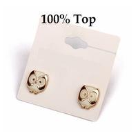 Min Order 9$! Fashion Cute Owl Stud Earrings Jewelry for Girls