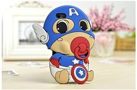 Silicone for iPhone 6 shell Wholesale,  Cute Captain America Mobile protective shell / Phone case 4 color
