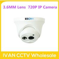 Escam OWL QD100 IP Camera Day/ Night Vision Onvif 3.6mm fixed lens 720P H.264 1/4 CMOS P2P Mini Camera Outdoor Camera