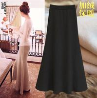 2014 New Fashion Plus Velvet Thickening Bust Skirt Slim hip Fish Tail Autumn and Winter Full Half-length Female Skirts