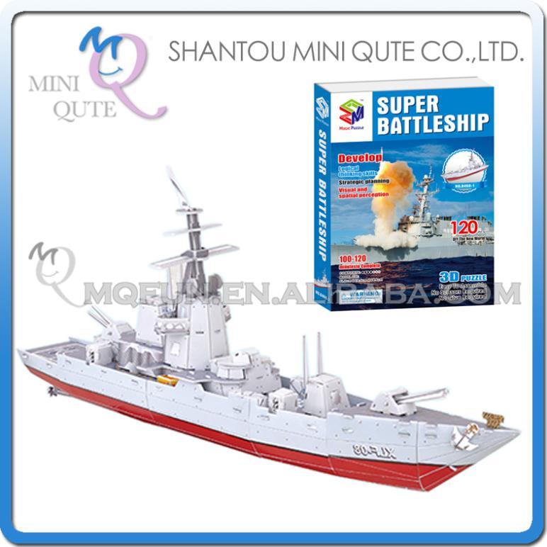 24pcs/lot Mini Qute Super Battleship building 3d paper puzzle diy model cardboard jigsaw puzzle game educational toy NO.B468-1(China (Mainland))