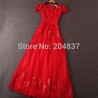New arrival  2015 women's spring gauze beading embroidery ultra long formal dress evening dress dearesy fashion