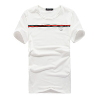 High Quality New 2014 Summer Men Trend Fashion O Neck Short-sleeve 100% Cotton T-shirt  Hot Sale Man Solid Color T Shirt Shirts