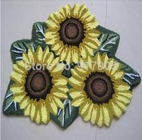 Yellow Flower Rug Sunflower Rug Rustic area Rug Set  Luxury  Handmade Rugs Washable carpet Bathroom Rug Floor Runner