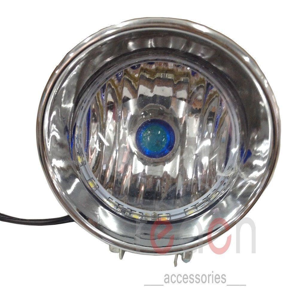 Motorcycle Headlight Lamp LED Angel Eye 12V Blue For Harley Honda Kawasaki(China (Mainland))