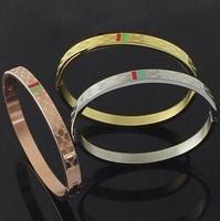 mix color silver/rose/gold  wholesale titanium steel bracelet,great master design.5.7cm