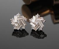 New Cute Crystal Five Star Earrings Flower Earrings Square Earrings For Women