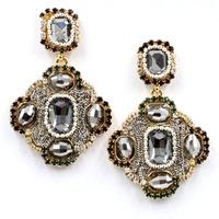 Hot sale 2014 New fashion women statement crystal cross stud Earrings for women fashion earring Factory wholesale women gift