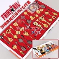 26 pcs/set Japanese Anime Fairy Tail Constellation Keychain/Necklace pendant Set Free Shipping