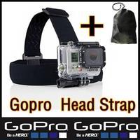 Original Gopro Head Strap For hero3 hero2 Sj4000 Accessories Mount Go Pro hero 4 3 2 1 With Black Edition Free Gopro Bags