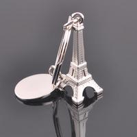 1PCS Free Shipping Eiffel Tower Keychain Creative Hot Fashion Key Chain Ring Key Fob Keyring