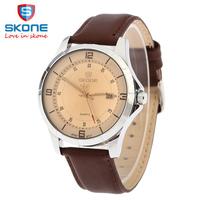 3SK06 SkONE Men luxury brand watches adjustable Date Genuine leather Waterproof watches Dress wristwatch Sport watches