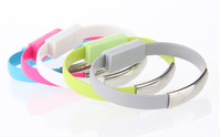 100pcs/lot DHLfreeshipping New wrist Bracelet USB Cable Charging Charger Data Sync Adapter Cable Cords For iPhone 5 5s 6 6Plus