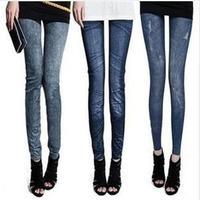 free shipping 2014 new women thin Ladies wild snow Denim jeans Leggings pencil pants nine Leggings autumn warm trouser