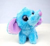 "TY big eyes blue bow baby elephant figurine 12cm (4.72 "") plush toy birthday gift given to children AB101"