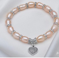 Fashion selling bracelets natural freshwater pearl heart-shaped han edition accessories manufacturers selling