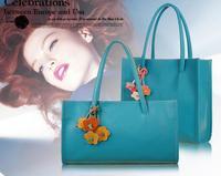 2014 new fashion high quality flower tassel hand bag;women shoulder bag