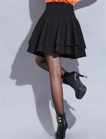 Spring Woman black Skirt Retro Casual Skirt American Women Skirts Ruffles High Waist Classic Fashion Ball Gown Short Skirts