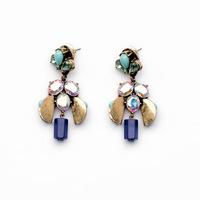 Christmas Gifts Fashion Jewelry Crystal Ethnic Earrings New Vintage Dangle Earrings For Women Black Drop Earring Brincos JLE049