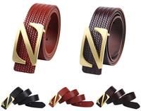 New men luxury high quality 100% Genuine Cowskin Belts Fashion Cowskin weaving Belts Men's Classical Leather Belts