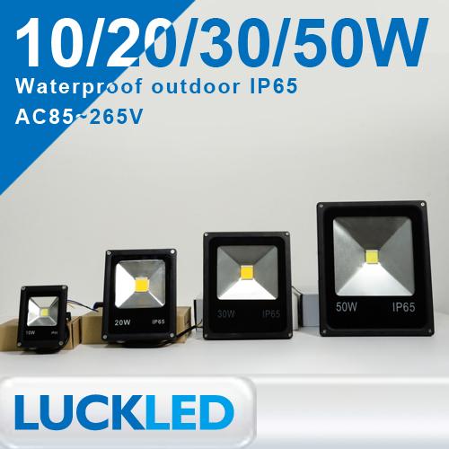 Led-flutlicht 10w 20w 30w 50w ip65 wasserdicht ac85-265v warmweiß/cool weiß outdoor strahler beleuchtung, led-flutlicht lampe