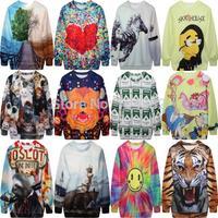 New arrival 2015 women hoody Winter Sexy Women Sweaters Cartoon Emoji Jogging Sweatshirt Casual Men Long Sleeve Tops