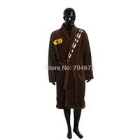 Star Wars Bathrobe Chewbacca Orangutan Winter Robe Men Sleepwear Adult Nightgown