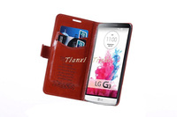 Top Quality With stand Flip Cover Leather Case For LG G3 + Free Shipping