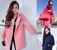 2014 new arrivel winter coat women abrigos mujer casacos femininos female wool coat ladies hot sale free shippng