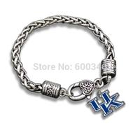 Stylish Alloy Kentucky Tag Charm Bracelets Jewelry 5 MM Link Chain Retro