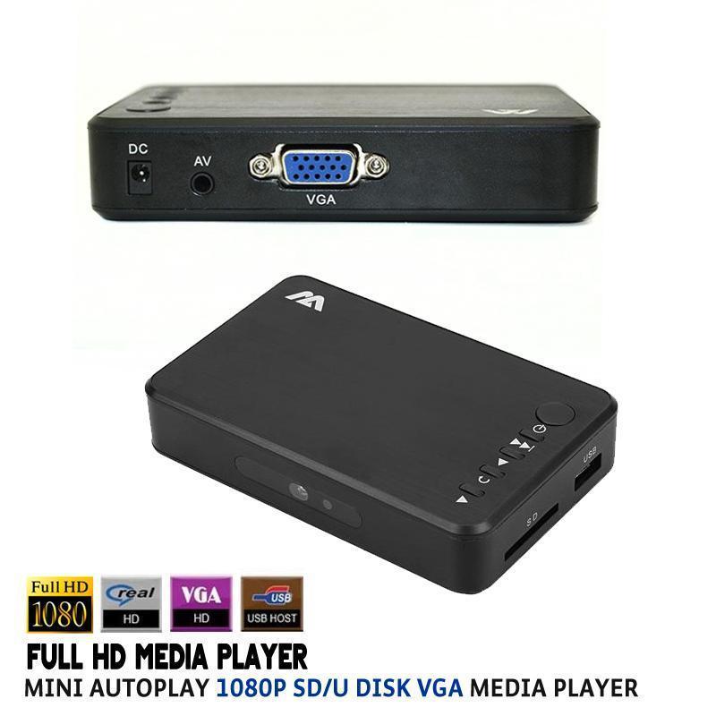 1080P Full HD HDD Media Player INPUT SD/USB/HDD Output VGA MEDIA BOX Support MKV H.264 RMVB WMV AVI MP4 FLV Music Movie Shell(China (Mainland))