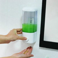 New Sanitizer Bathroom Liquid Wall Mounted Soap Shower Shampoo Lotion Conditioner Dispenser Machine Brand Bathroom Accessories