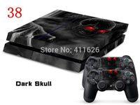 Skin sticker decal for PS4 set Dark Skull