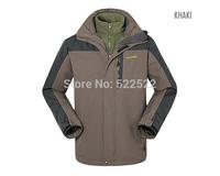 2014 HOT Sale Mens Outdoor Jakcet Men Autumn Winter Hoodie Jacket Waterproof Warm Climbing Jacket High Quality Free Shipping