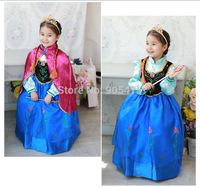 Frozen Elsa dress Girl Princess Dress Summer longsleeve frozen dress Anna and Elsa Costume,baby & kids summer dresses ggg002