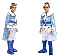 2014 Real Special Offer Dragon Ball Z Costumes Children's Halloween Costume Male Infant Prince King Clothes Masquerade Charming