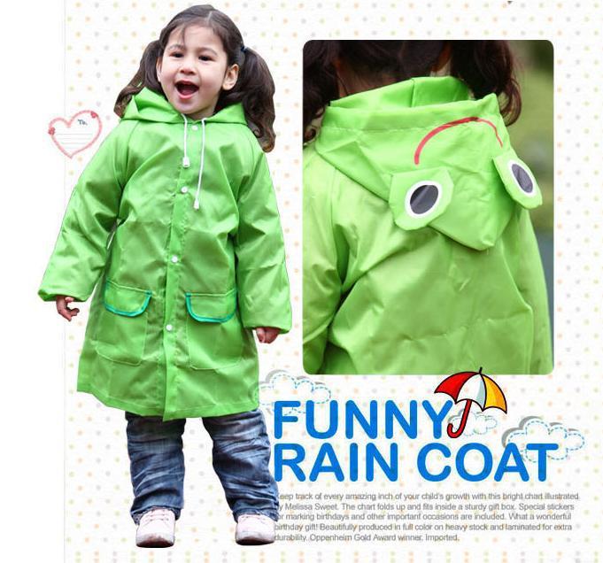 Hot 2014 new waterproof poncho raincoat children raincoat cartoon pattern baby blue, red, yellow, green, pink free shipping(China (Mainland))