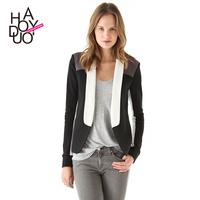 Stitching Cardigan Suit Plus Size Blazer Women XS/S/M/L/XL/XXL Suit Jacket