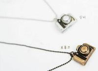 High quality fashion Korea hot sale vintage small camera necklace sweater chains 120pcs